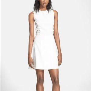 A.L.C White Buckle Dress 2 Corset Style